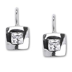 Stříbrné náušnice E1117 crystal