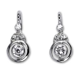 Naušnice stříbrné E1464 crystal
