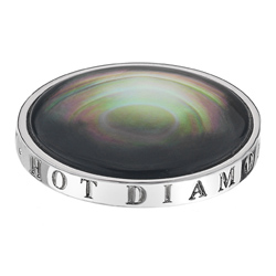 Pøívìsek Hot Diamonds Emozioni Black Mother of Pearl Coin