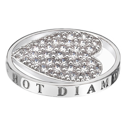 Pøívìsek Hot Diamonds Emozioni Ice Sparkle Heart Mirage Coin