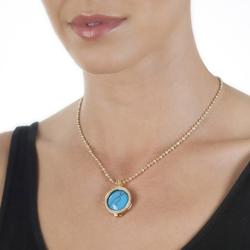 Obrázek è. 16 k produktu: Støíbrný pøívìsek Hot Diamonds Emozioni Turquoise Coin