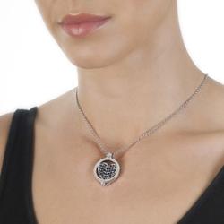 Obrázek è. 16 k produktu: Pøívìsek Hot Diamonds Emozioni Midnight Sparkle Heart Mirage Coin