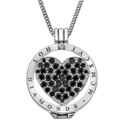 Obrázek è. 12 k produktu: Pøívìsek Hot Diamonds Emozioni Midnight Sparkle Heart Mirage Coin