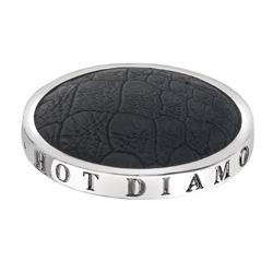 Pøívìsek Hot Diamonds Emozioni Faux Crocodile Black Coin