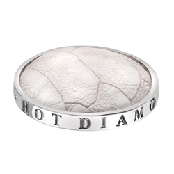 Pøívìsek Hot Diamonds Emozioni Faux Crocodile White Coin