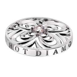 Pøívìsek Hot Diamonds Emozioni Consistenza Petal Coin