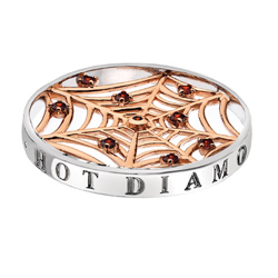 Pøívìsek Hot Diamonds Emozioni Consistenza Web Rose Coin