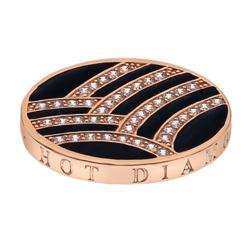 Pøívìsek Hot Diamonds Emozioni Art Deco Curve Rose Coin
