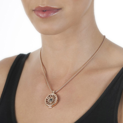 Obrázek è. 8 k produktu: Pøívìsek Hot Diamonds Emozioni Art Deco Sunrise Rose Gold Coin