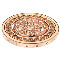 Pøívìsek Hot Diamonds Emozioni Fiamme e Ghiaccio Rose Gold Coin