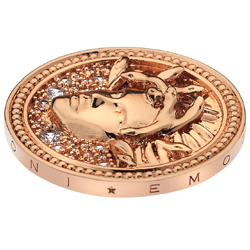 Pøívìsek Hot Diamonds Emozioni Medusa Bianca Rose Gold Coin