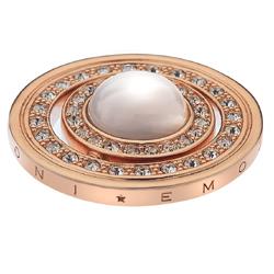 Pøívìsek Hot Diamonds Emozioni Mare e Nubi Rose Gold Coin