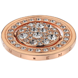 Pøívìsek Hot Diamonds Emozioni Acqua e Aria Rose Gold Coin