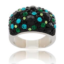 Prsten s krystaly Swarovski Emerald Night