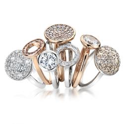 Obrázek è. 4 k produktu: Støíbrný prsten Hot Diamonds Emozioni Scintilla Rose Gold