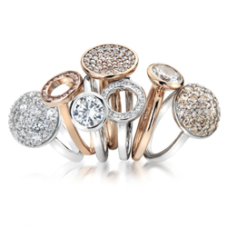 Obrázek è. 4 k produktu: Støíbrný prsten Hot Diamonds Emozioni Riflessi Rose Gold