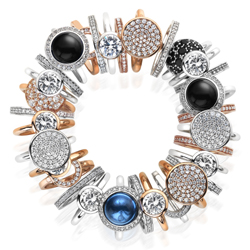 Obrázek è. 8 k produktu: Støíbrný prsten Hot Diamonds Emozioni Saturno Rose Gold