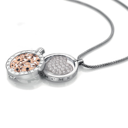 Obrázek è. 2 k produktu: Pøívìsek Hot Diamonds Emozioni Ice Sparkle Heart Mirage Coin