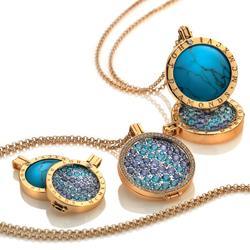 Obrázek è. 8 k produktu: Pøívìsek Hot Diamonds Emozioni Midnight Sparkle Heart Mirage Coin