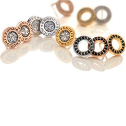 Obrázek è. 2 k produktu: Støíbrné náušnice Hot Diamonds Emozioni Saturno Rose Gold