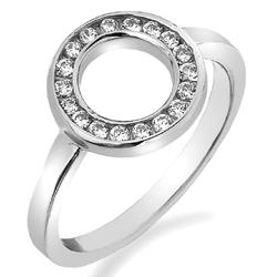 Støíbrný prsten Hot Diamonds Emozioni Saturno Silver