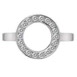Obrázek è. 2 k produktu: Støíbrný prsten Hot Diamonds Emozioni Saturno Silver