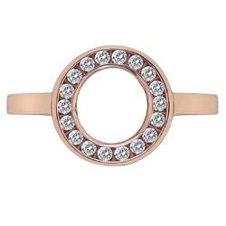 Obrázek è. 2 k produktu: Støíbrný prsten Hot Diamonds Emozioni Saturno Rose Gold