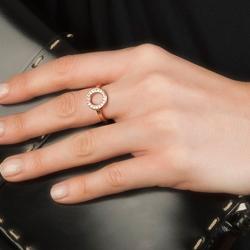 Obrázek è. 10 k produktu: Støíbrný prsten Hot Diamonds Emozioni Saturno Rose Gold