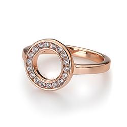 Obrázek è. 18 k produktu: Støíbrný prsten Hot Diamonds Emozioni Saturno Rose Gold