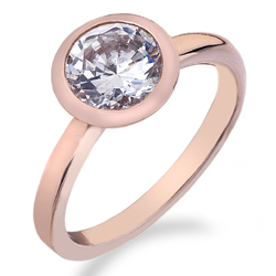Støíbrný prsten Hot Diamonds Emozioni Riflessi Rose Gold