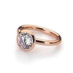 Obrázek č. 11 k produktu: Stříbrný prsten Hot Diamonds Emozioni Riflessi Rose Gold