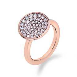 Støíbrný prsten Hot Diamonds Emozioni Scintilla Rose Gold