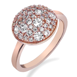Støíbrný prsten Hot Diamonds Emozioni Bouquet Rose Gold