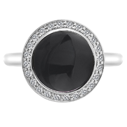 Obrázek è. 2 k produktu: Støíbrný prsten Hot Diamonds Emozioni Laghetto Black