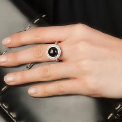 Obrázek è. 12 k produktu: Støíbrný prsten Hot Diamonds Emozioni Laghetto Black