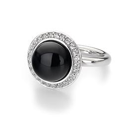 Obrázek è. 14 k produktu: Støíbrný prsten Hot Diamonds Emozioni Laghetto Black