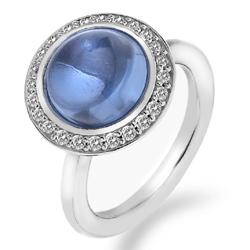Støíbrný prsten Hot Diamonds Emozioni Laghetto Azure