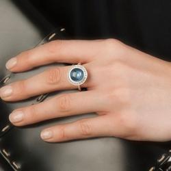 Obrázek è. 2 k produktu: Støíbrný prsten Hot Diamonds Emozioni Laghetto Azure