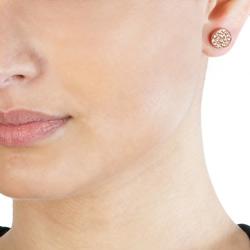 Obrázek è. 4 k produktu: Støíbrné náušnice Hot Diamonds Emozioni Scintilla Champagne Rose Gold