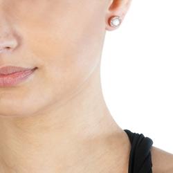 Obrázek è. 6 k produktu: Støíbrné náušnice Hot Diamonds Emozioni Giove Pearl Rose Gold