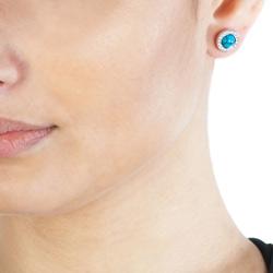 Obrázek è. 4 k produktu: Støíbrné náušnice Hot Diamonds Emozioni Giove Turquoise