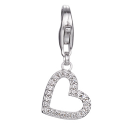 Stříbrný přívěsek Esprit Charms Brilliance Heart ESCH91299A