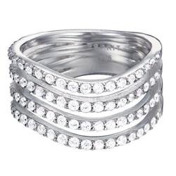 St��brn� prsten Esprit ES-GLEAMING WAVE JW50010