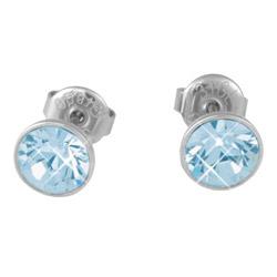 Náušnice s krystaly Swarovski ESSW12-AQUA