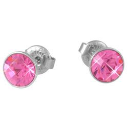 Náušnice s krystaly Swarovski ESSW12-ROSE