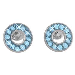 Náušnice s krystaly Swarovski ESSW21-AQUA