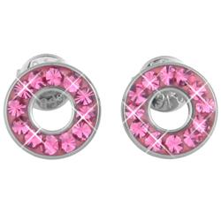 Náušnice s krystaly Swarovski ESSW21-ROSE