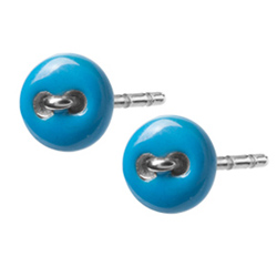 Náušnice z chirurgické oceli Tribal ESSW30-BLUE