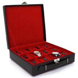 Obrázek č. 1 k produktu: Kazeta na hodinky Friedrich Lederwaren Carbon 32054-2