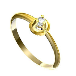 Obrázek č. 1 k produktu: Zásnubní prsten s briliantem Leonka  008